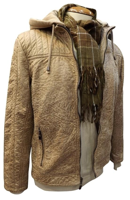 Jaquetas de Camurça Masculina com Capuz - Tamanho P M