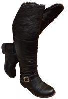 Botas Over The Knee Forrada com Pele Impermeabilizada